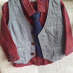 Camasa cu cravata si vesta