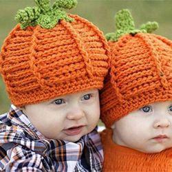 Νέα καπέλο-κολοκύθα στο μωρό μέχρι 6-7 μήνες