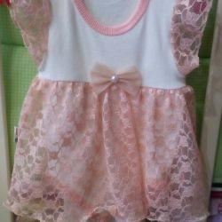 Body-dress for the girl elegant 62cm