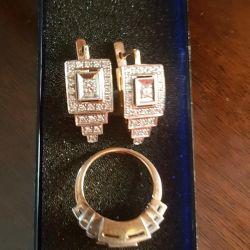 Chic gold set with diamonds