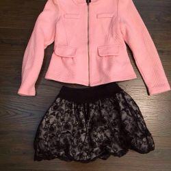 Пиджак и юбка на девочку