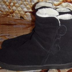 New black low shoes from nat. Suede 40 rr