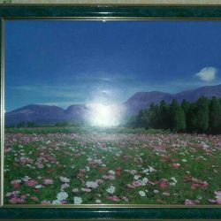 Painting reproduction under glass