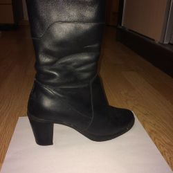Genuine leather winter shoes