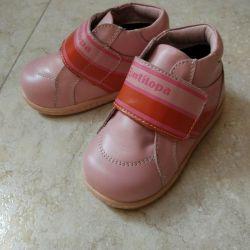 Pantofi noi din piele de antilopa