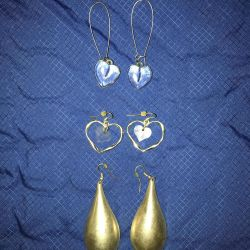 Top Shop Τρία ζευγάρια σκουλαρίκια