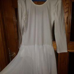 Купальник белый с юбочкой
