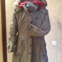 Kızlar için hafif palto 134 beden
