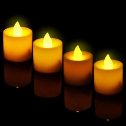 A set of candles with a yellow flame (12 pcs.)