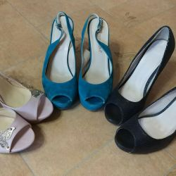 3 pairs of summer shoes 38
