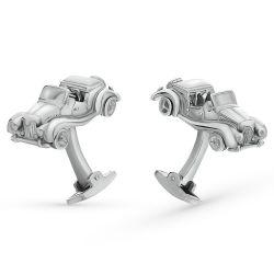 Silver cufflinks with enamel