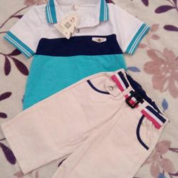 Polo + breeches for a boy .. New. 4-6 years.