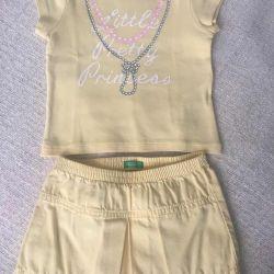Καλοκαιρινή φορεσιά Benetton για κορίτσι 18 μηνών