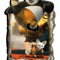Kung Fu Panda 3D sticker 90 by 60 cm