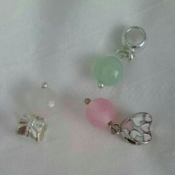 Charms with natural stones.