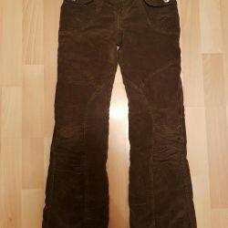 Corduroy pants, warmed