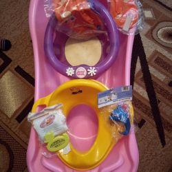 Bath + gifts.