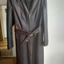 Coat nat leather 46p