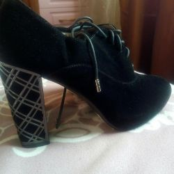 Shoes / ankle boots natural suede 37 new