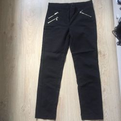 Black mango trousers