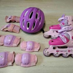 Roller skates with protection and helmet, s.29-32