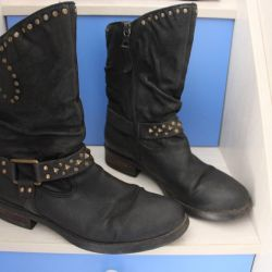 genuine leather boots autumn