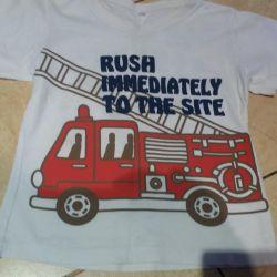 T-shirt αγοριών για ύψος 100 cm
