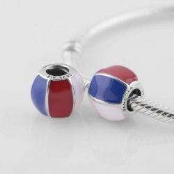Charm Pandora üç renkli sır, yeni