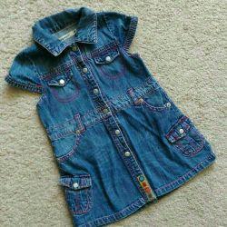 Платье джинсовое детское