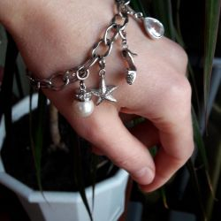 Bracelet with pendants 925 Silvano Brizzi. For a gift