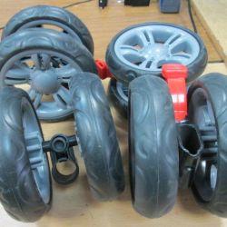 Roți noi pentru cărucioare d-14 cm