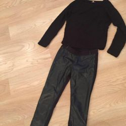 Shirt and pants Gucci ECO leather with fabric