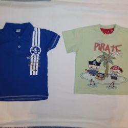 T-shirts 98-104 cm, 2-4 g (2 pieces), excellent