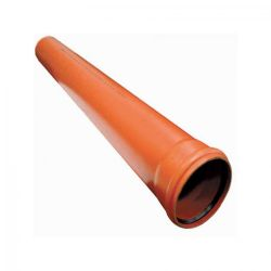 External sewer pipes, new, residues