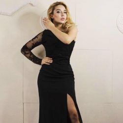 Black evening dress, new