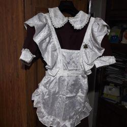 σχολικό φόρεμα με ποδιά