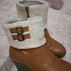 полу ботинки зимние