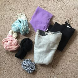 Scarves and shawls 7 pcs.