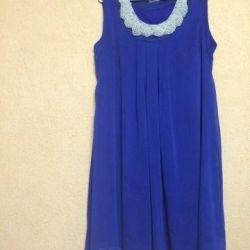 Foarte frumoasa rochie albastra (sifon)