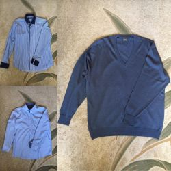 Jumper and two shirts size 54-56