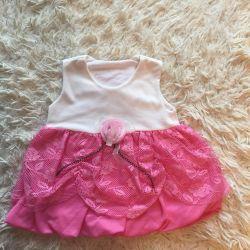 Платье с накидкой детское новое