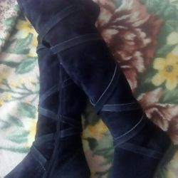 Boots made from natural suede p 39