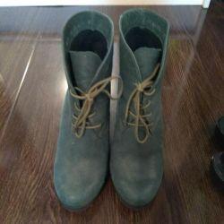 Ayak bileği botları nat leather