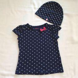 Setați tricou și pălărie ostin copii 12-18 luni