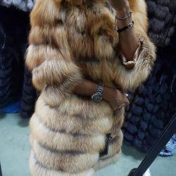 New fur coat from fur