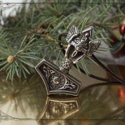 Pendant for men's hammer torus New Year's gift