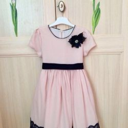 Elegant dress for graduation for a girl, b.116-122