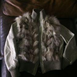 Sonbahar eko deri ceket + Nat kürk