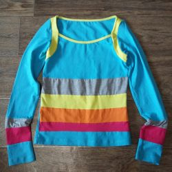 Blouse on a girl of 8-10 years.
