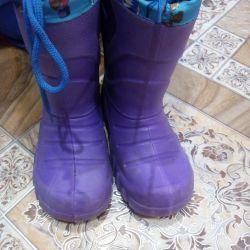 Καουτσούκ μπότες Για την ηλικία 4,5-5 ετών.